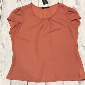 Mikarose Dusty Orange Blouse Large